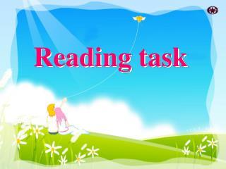 R eading task