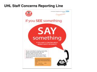 UHL Staff Concerns Reporting Line