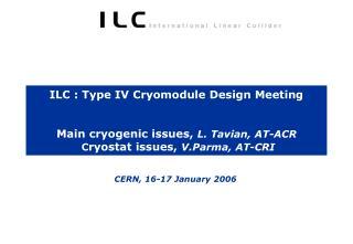 CERN, 16-17 January 2006