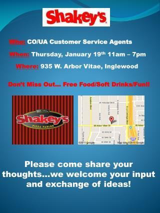 Who:  CO/UA Customer Service Agents