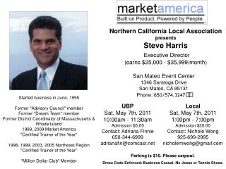 Northern California Local Association presents Steve Harris Executive Director