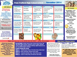 ALL ITEMS MEET THE USDA REGULATIONS AND REQUIREMENTS FOR THE NATIONAL SCHOOL LUNCH PROGRAM