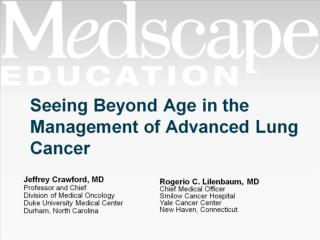 Seeing Beyond Age in the Management of Advanced Lung Cancer