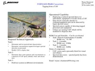 FORWARD  PASS  Consortium Tagging from a UAV
