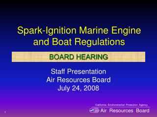 Spark-Ignition Marine Engine and Boat Regulations