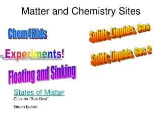 Matter and Chemistry Sites