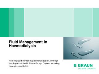 Fluid Management in Haemodialysis