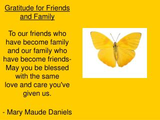 Gratitude for Friends and Family