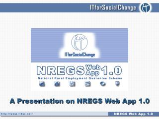A Presentation on NREGS Web App 1.0