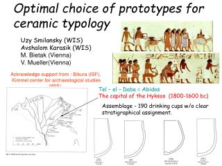 Optimal choice of prototypes for ceramic typology