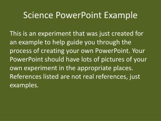 Science PowerPoint Example