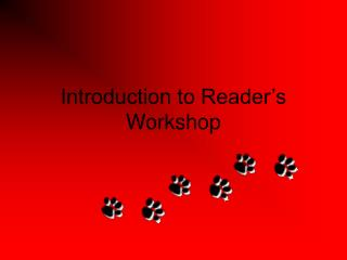 Introduction to Reader's Workshop