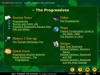– The Progressives