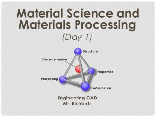 Material Science and Materials Processing (Day 1) Engineering CAD Mr. Richards