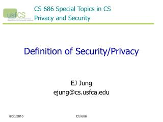Definition of Security/Privacy