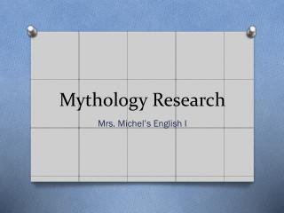 Mythology Research