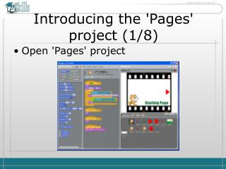 Introducing the 'Pages' project ( 1 / 8 )