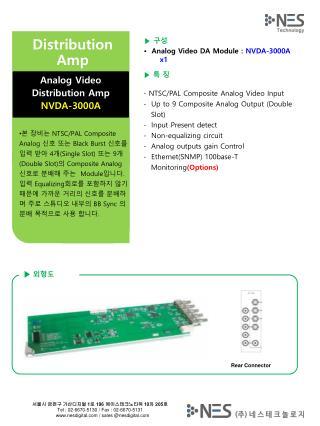 ▶ 구성 • Analog Video DA Module  :  NVDA-3000A  x1