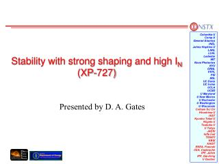 Stability with strong shaping and high I N  (XP-727)