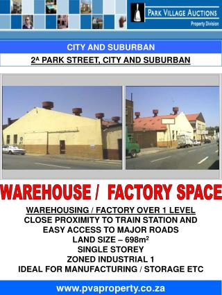 WAREHOUSING / FACTORY OVER 1 LEVEL CLOSE PROXIMITY TO TRAIN STATION AND EASY ACCESS TO MAJOR ROADS