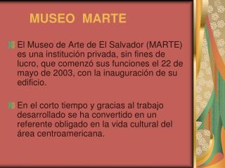MUSEO  MARTE