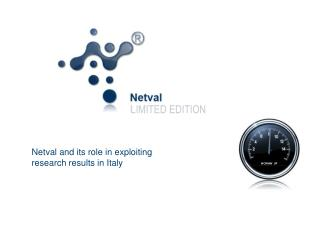 Netval and its role in exploiting research results in Italy