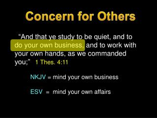 Concern for Others