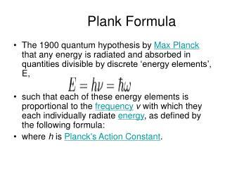 Plank Formula