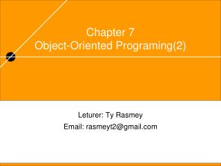 Chapter 7 Object-Oriented Programing(2)