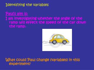 Identifying the variables