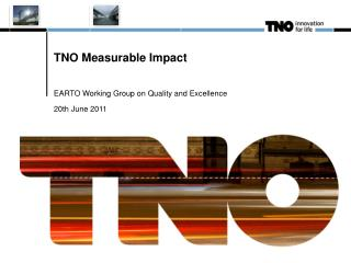 TNO Measurable Impact