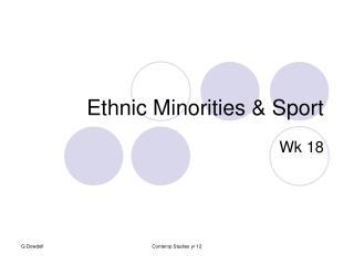Ethnic Minorities & Sport