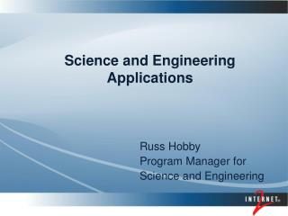 Science and Engineering Applications