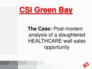 CSI Green Bay