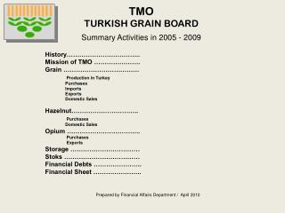 TMO TURKISH GRAIN BOARD