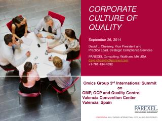 Corporate culture of quality