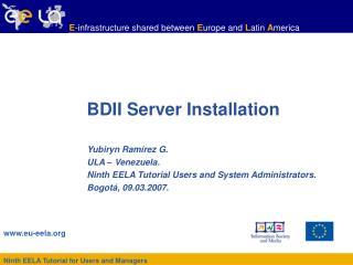 BDII Server Installation