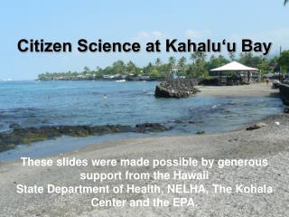 Citizen Science at Kahalu'u Bay