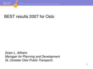 BEST results 2007 for Oslo