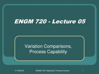 ENGM 720 - Lecture 05