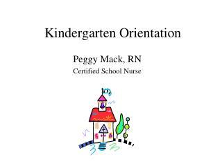 Kindergarten Orientation
