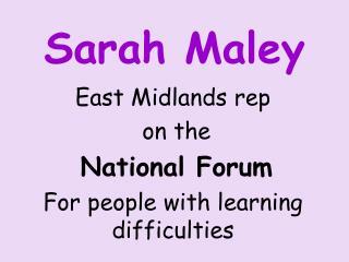 Sarah Maley