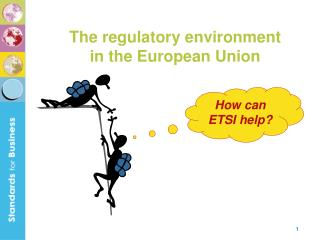 How can ETSI help?