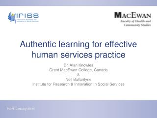Authentic learning for effective human services practice
