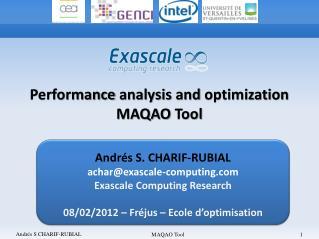 Andrés S. CHARIF-RUBIAL achar@exascale-computing