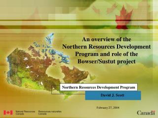 Northern Resources Development Program