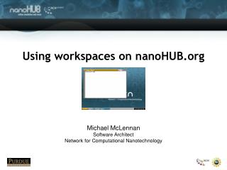 Using workspaces on nanoHUB