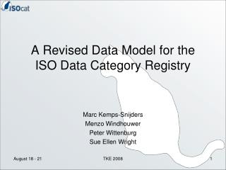 A Revised Data Model for the  ISO Data Category Registry