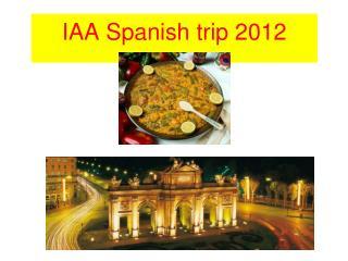 IAA Spanish trip 2012
