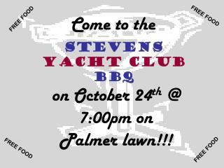 Stevens  Yacht Club  BBQ